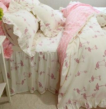 Cartoon cute bird bedding set teen girl,twin full queen king cotton single double home textile bedspread pillow case duvet cover