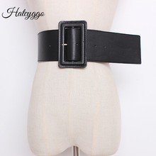 HATCYGGO Fashion Ultra Wide Curved Cummerbund Women's Wide Belt