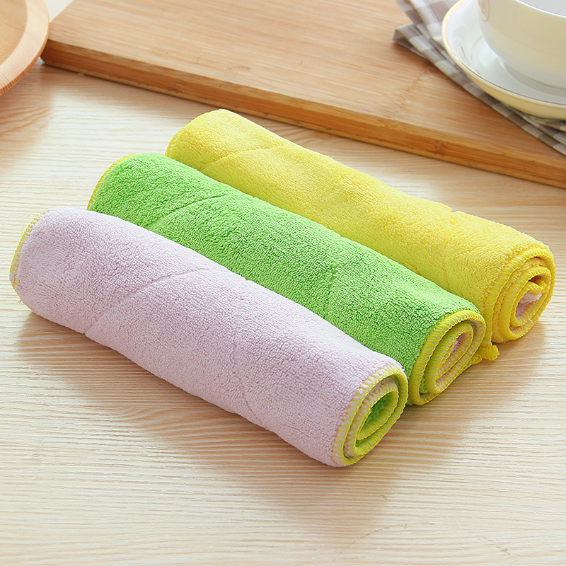 Microfiber Dish Rags: TCHY Microfiber Kitchen Towel Cleaning Cloth Washing Dish