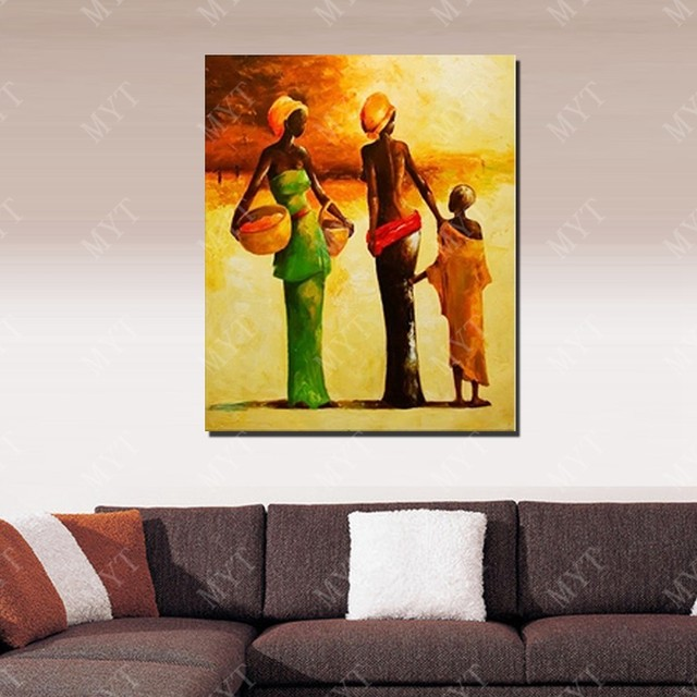 Online Shop New Design Modern African Women Oil Painting Living Room ...