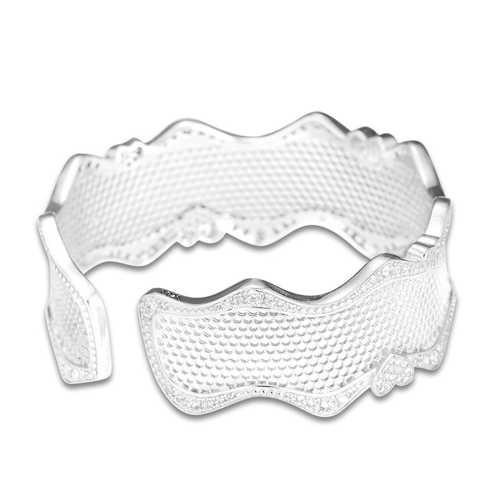 CKK bransoletka srebro biżuteria koronki miłości mankiet bransoletki i bransoletki dla kobiet Pulseira Masculina Feminina srebro 925 w Bransoletki i obręcze od Biżuteria i akcesoria na  Grupa 1