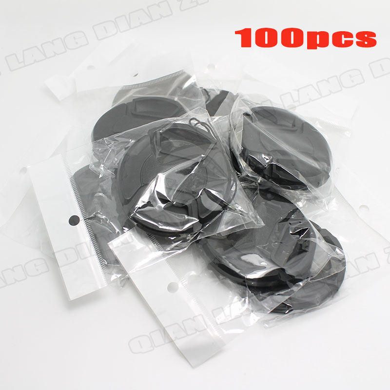 100pcs/lot 58mm Center Pinch Snap-on Front Lens Cap cover for Camera Lens + free tracking number