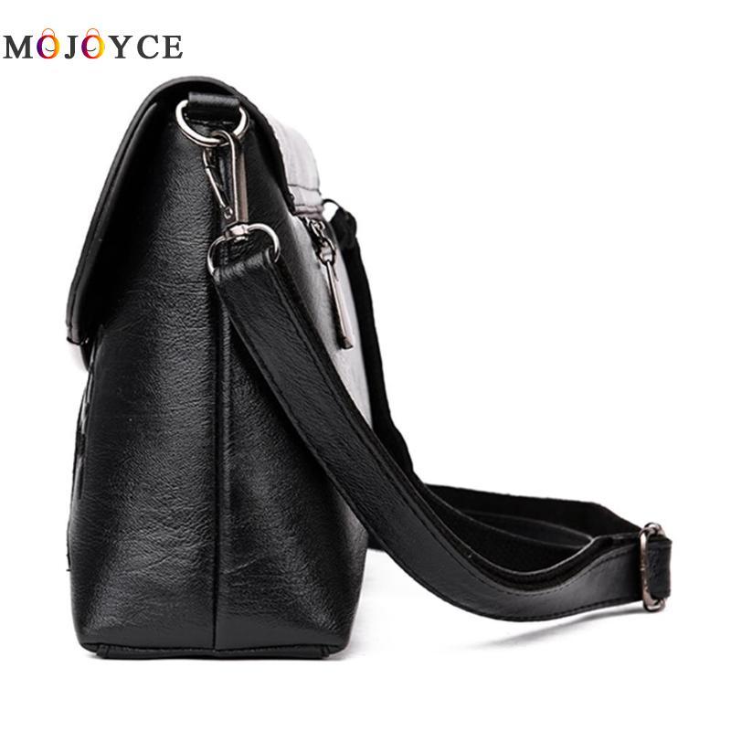 Simple Pure Women Handbags Flap PU Leather Shoulder Bag Office Lady Elegant Clutch bolsos mujer de marca famosa 2018 4
