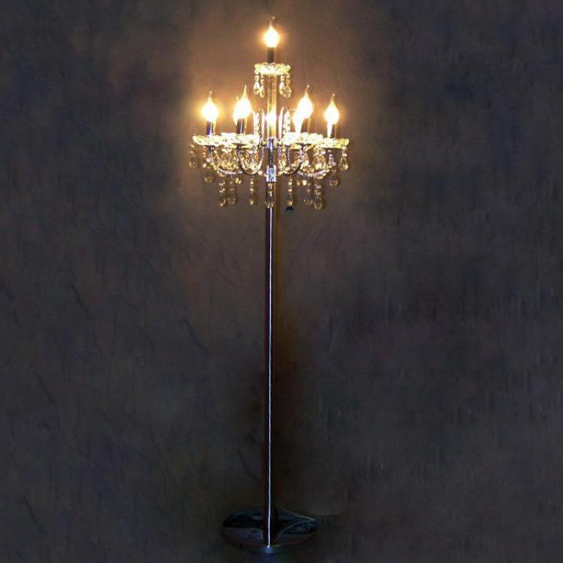 Antique Big Led Silver Floor Lamp Tall Standing