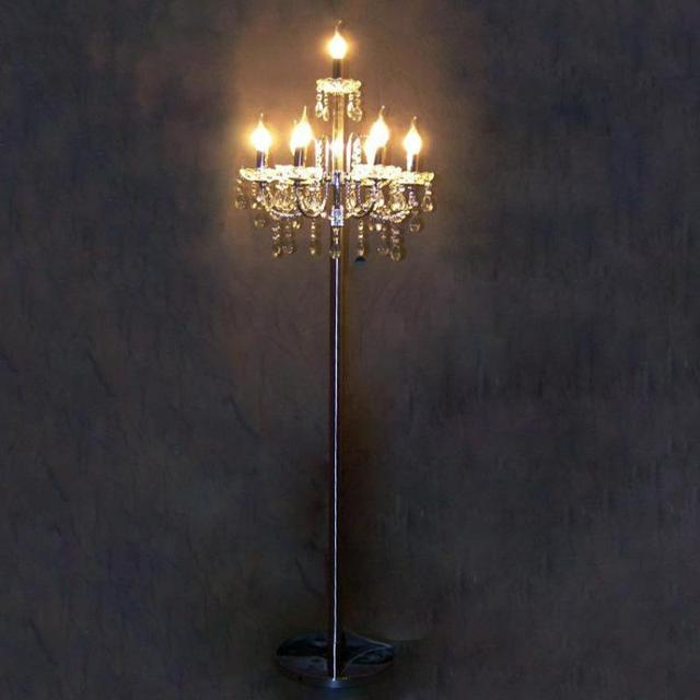 Antique Big Led Silver Floor Lamp Tall Standing Lamp For Wedding Candelabra  Modern Candle Holders Bedroom
