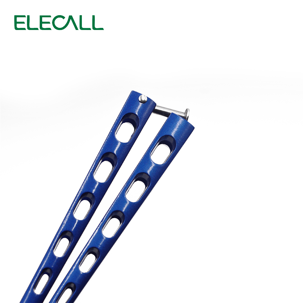 ELECALL butterfly Knife butterfly trainer balisong butterfly knife training  tool folding knife not sharp fade blue color