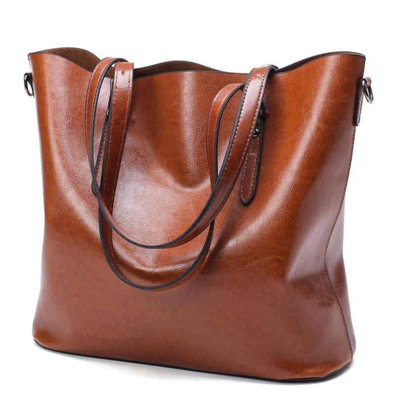 dbca191a3b 2018 Large Capacity Bag Women Leather Handbags Luxury Brand Bags Female  Tote Bags Sac a Main Women Shoulder Bag Vintage Bolsa-in Shoulder Bags from  Luggage ...