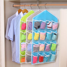Sundries jewelry Hanging Storage Bags Package Sock Bra Box Door Mounted Wardrobe Hang Bag Wall Pouch Cosmetic Toys Organizer(China)