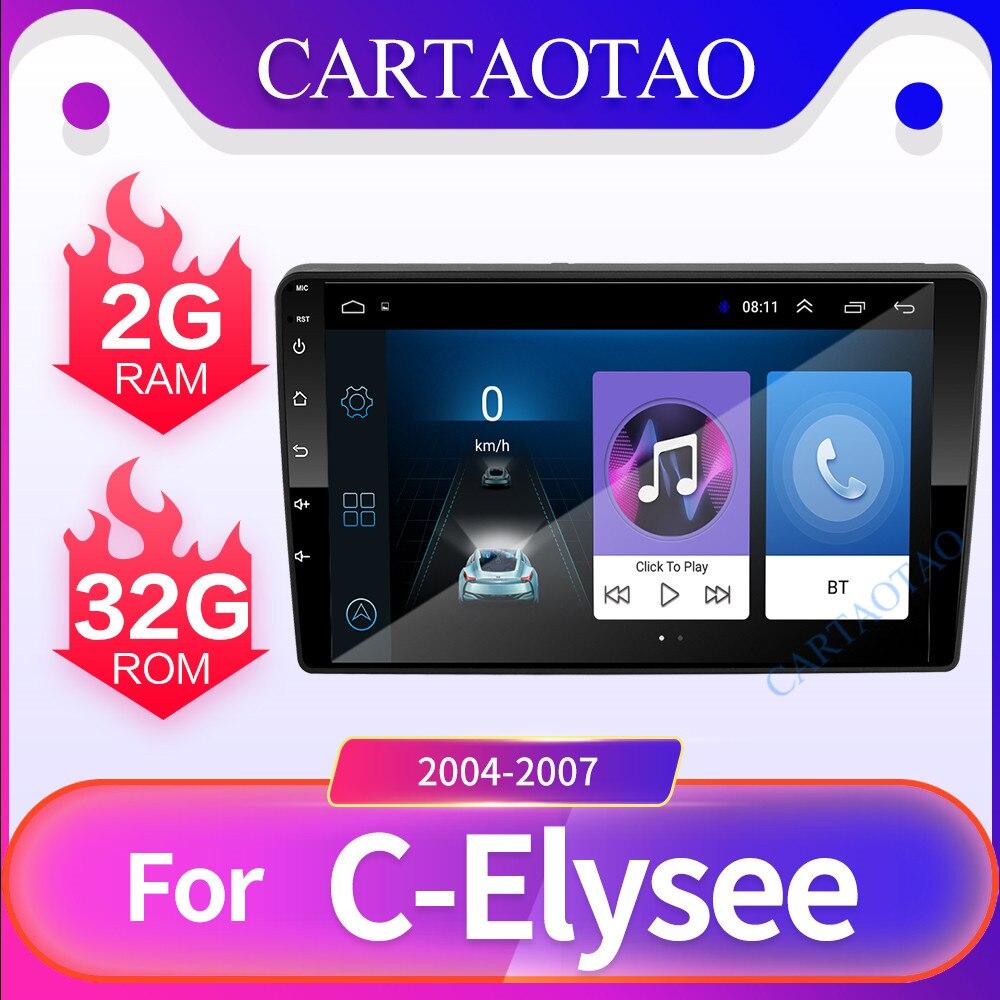 2 din Android 8.1 lecteur DVD multimédia de voiture pour signe 301/c-elysee 2004-2007 2.5D HD autoradio GPS navigation lecteur Bluetooth