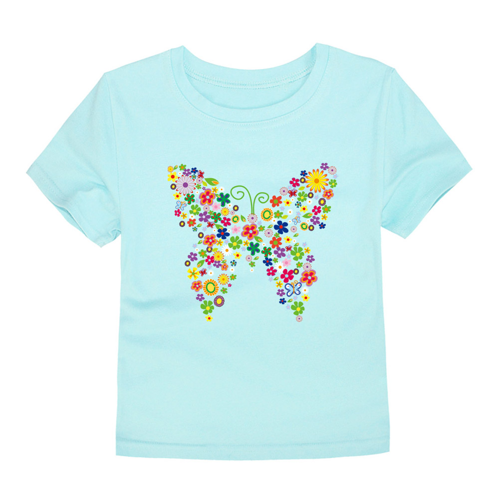 HTB1ylT2fOAnBKNjSZFvq6yTKXXaA - Summer Brand New Baby Girls T Shirts Kids Butterfly Flower T Shirts Children Floral Summer Tops for Girl Tshirt Girl
