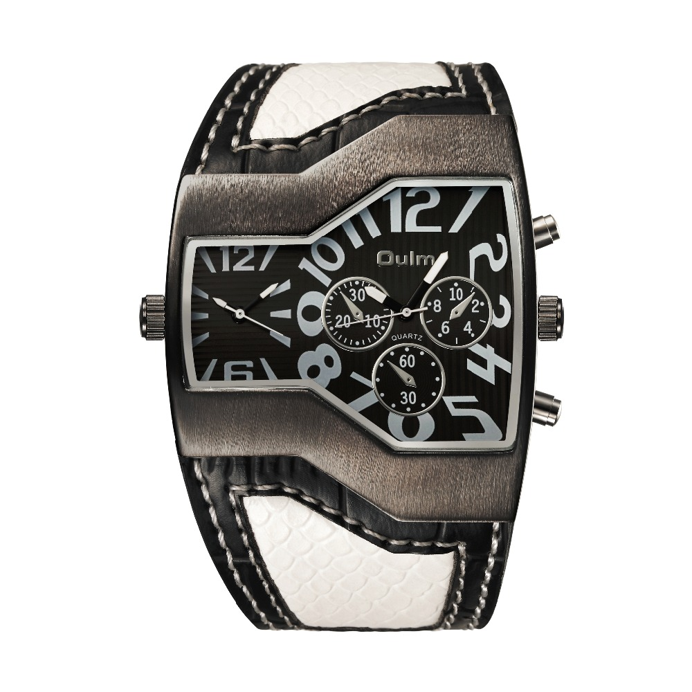 Big Face - double Wristwatch w/ Leather Strap 3