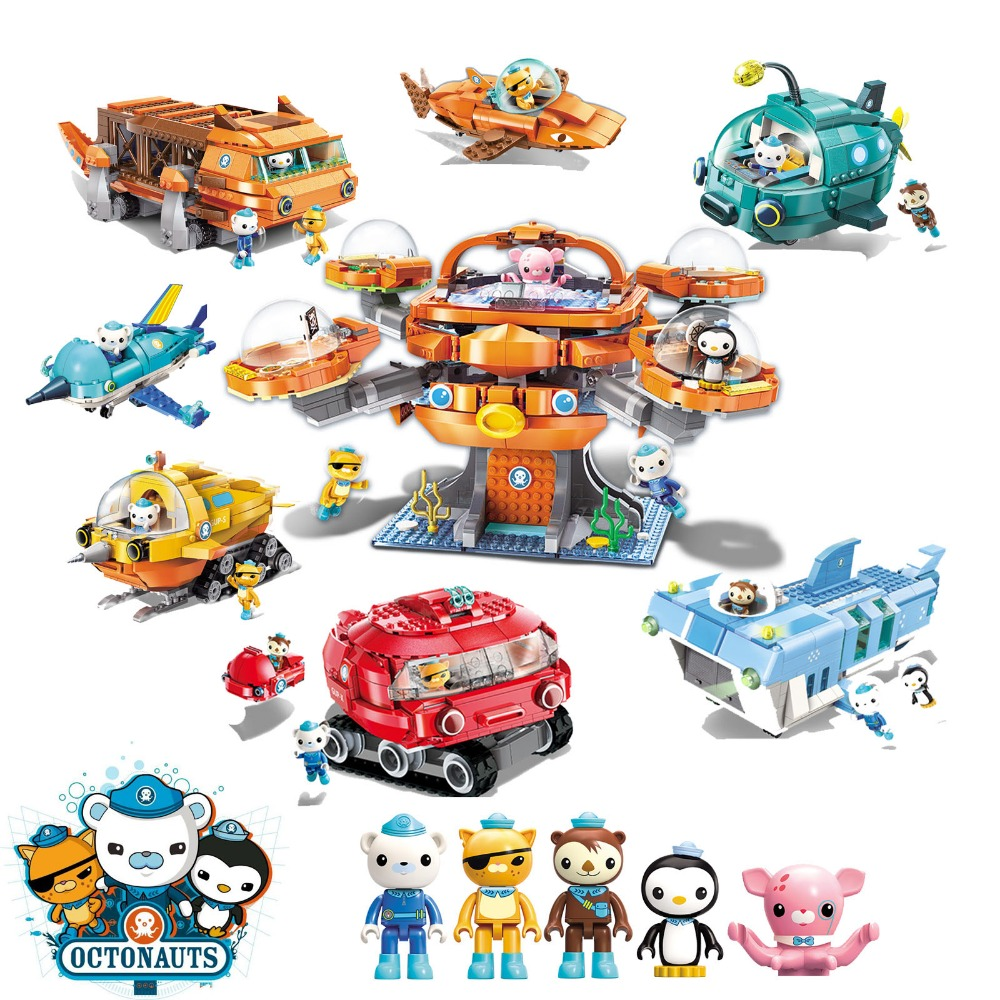 Octonauts Building Block Octopod Gup Submarine Boat Oct-Pod With Barnacles Kwazii Dashi Professor Brick Set For Children Gift