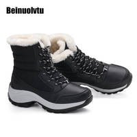 Großhandel laufschuhe Winter Leder Turnschuhe für Frauen Sportschuhe Plattform Turnschuhe Mädchen schneeschuhe warme stiefel