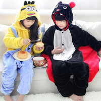 Kids Despicable Me Minion Cosplay Pajama Boys Girls Animal Onesie Cartoon Hoodie Pyjamas Batman Costume Children