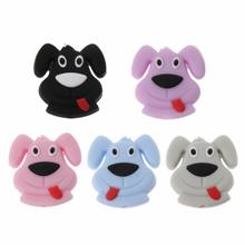 Silicone Teethers Mini Dog Food Grade BPA Free DIY Teething Nursing Gifts Loose Beads Baby Teethers Dec17(China)