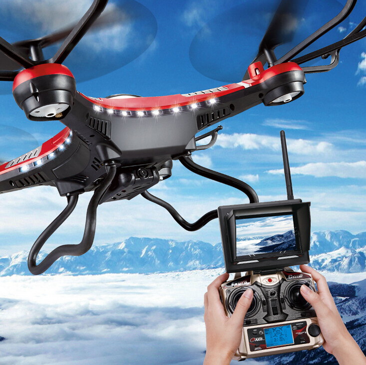 Oyuncaklar ve Hobi Ürünleri'ten RC Helikopterler'de Yeni Drone JJRC H8D 2.4Ghz Başsız Modu BIR Anahtar Dönüş rc dört pervaneli helikopter Ile 5.8G FPV 2MP HD Kamera RTF VS Wltoys V686G H8C H9D'da  Grup 1