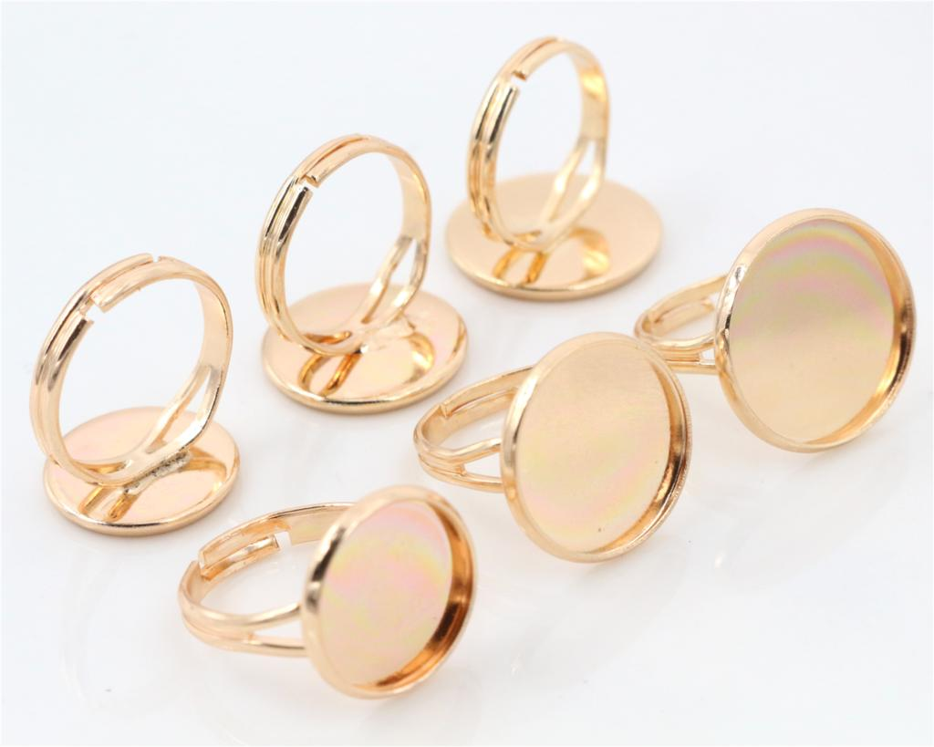 14mm-16mm-18mm 10pcs KC Gold Plated Brass Adjustable Ring Settings Blank/Base,Fit 14mm 16mm 18mm Glass Cabochons,Buttons14mm-16mm-18mm 10pcs KC Gold Plated Brass Adjustable Ring Settings Blank/Base,Fit 14mm 16mm 18mm Glass Cabochons,Buttons
