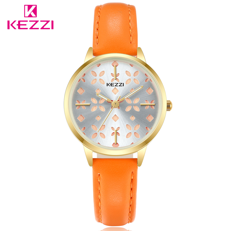 KEZZI Casual Women Watches Luxury Brand Quartz Watch Fashion Ladies Leather Watches Women Clock Montre Femme Relogio feminino sinobi ceramic watch women watches luxury women s watches week date ladies watch clock montre femme relogio feminino reloj mujer