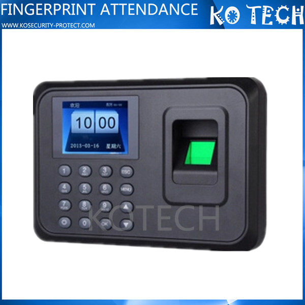 Free Shipping! Biometric A6TFT Fingerprint Time Attendance Machine Clock Record NoNeed Software