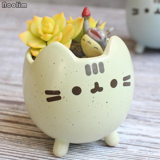 Cartoon Cat Flowerpot