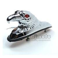 BJ LPL 021 Chrome Eagle Head Ornament Statue For Motorcycle Motorbike ATV Front Fender Frames Fittings