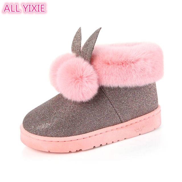 ALL YIXIE 2019 Winter New Fashion Women Boots Rabbit Ears Cute Boots Waterproof and Velvet Thick Warm Cotton Shoes Size 34-41