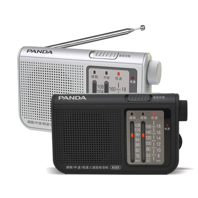 Radio Aufstrebend Panda 6123 Drei Band Radio Tragbare Radio Multiband Eine Manuelle Suche Semiconductor Radio