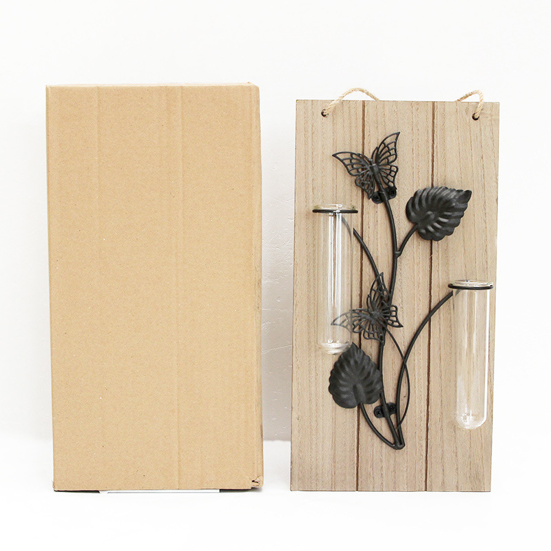 Europe Style Home Decor Craft Wooden Plant Wall Mount Water Planting ...