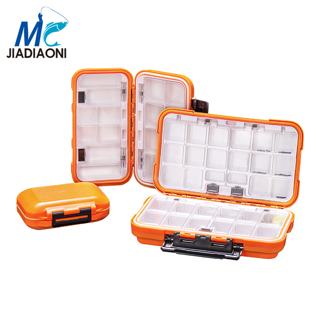 JIADIAONI High Quality Plastic Fishing Tackle Box 30 Compartments Lure Fishing Box Double Layer Fishing Box Fishing Accessories