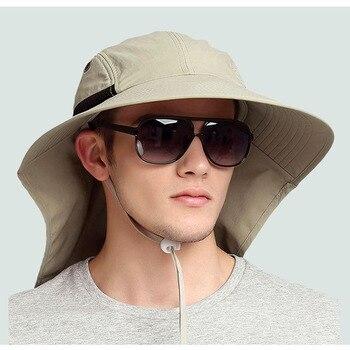낚시 모자 99.9% uv 컷 썬 스크린 와이드 브림 넥 캡 남성 여성 단열 어부 모자 야외 낚시 하이킹 60 cm/61 cm