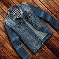 2016 New Style Men's casual fashion denim jacket male cotton denim tops outerwear 7XL male denim jackets thin coat clothing