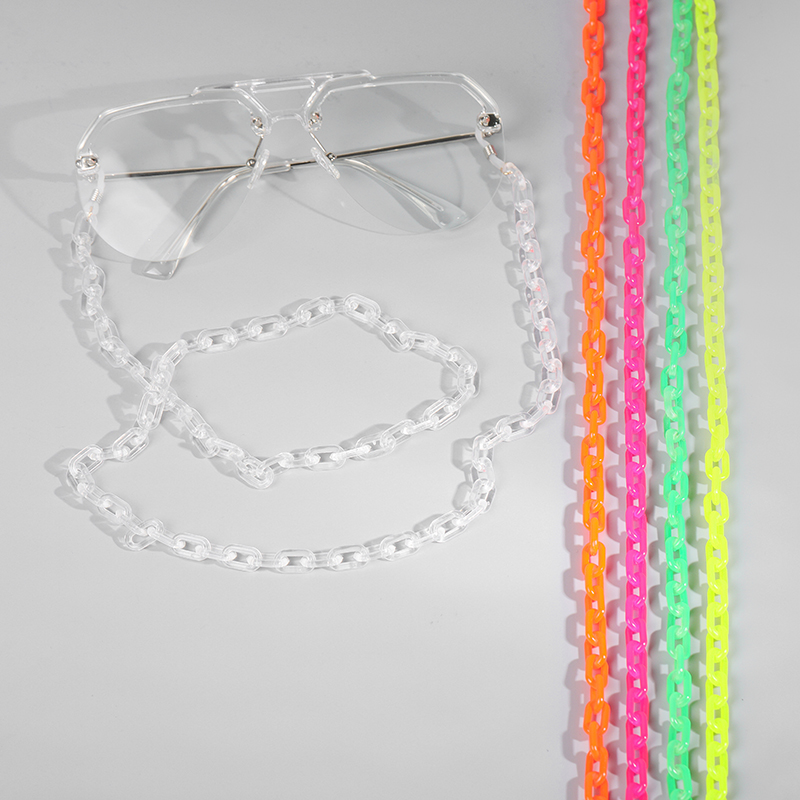 Fashion Multicolor Acrylic Eyeglass Chain For Reading Women Eyewears Accessories Sunglasses Chain Cord Holder Neck Strap Rope