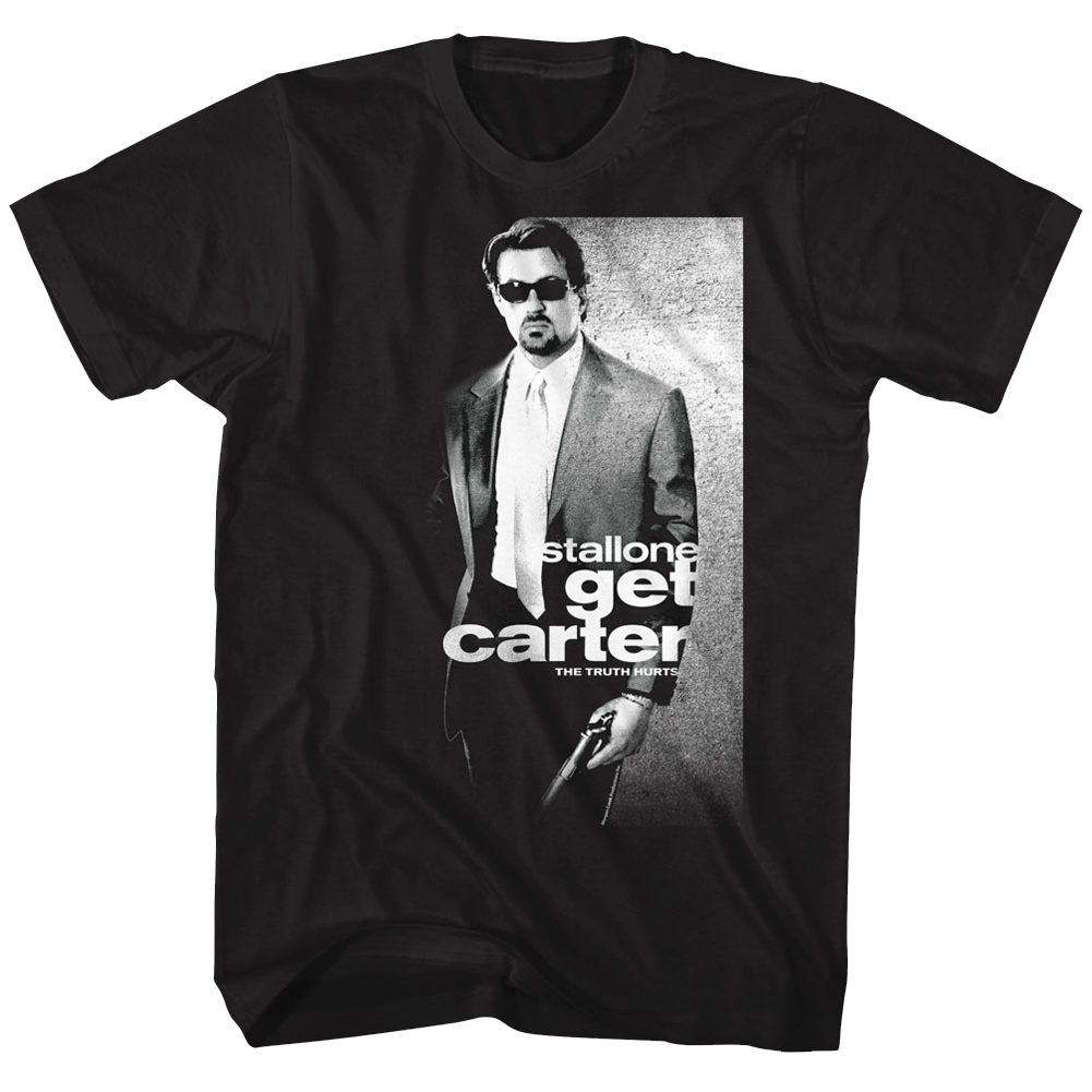 GET CARTER POSTER BLACK ADULT Short Sleeve T-Shirt Tees Brand Clothing Funny Top Tee Tops Male T Shirt Men Text