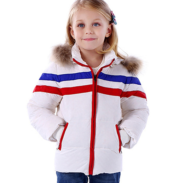 2017 Winter New Kids Clothes White Duck Down Girl Winter Jacket Real Fur Hooded Boys Parka Coat Sport Warm Outwear For Children