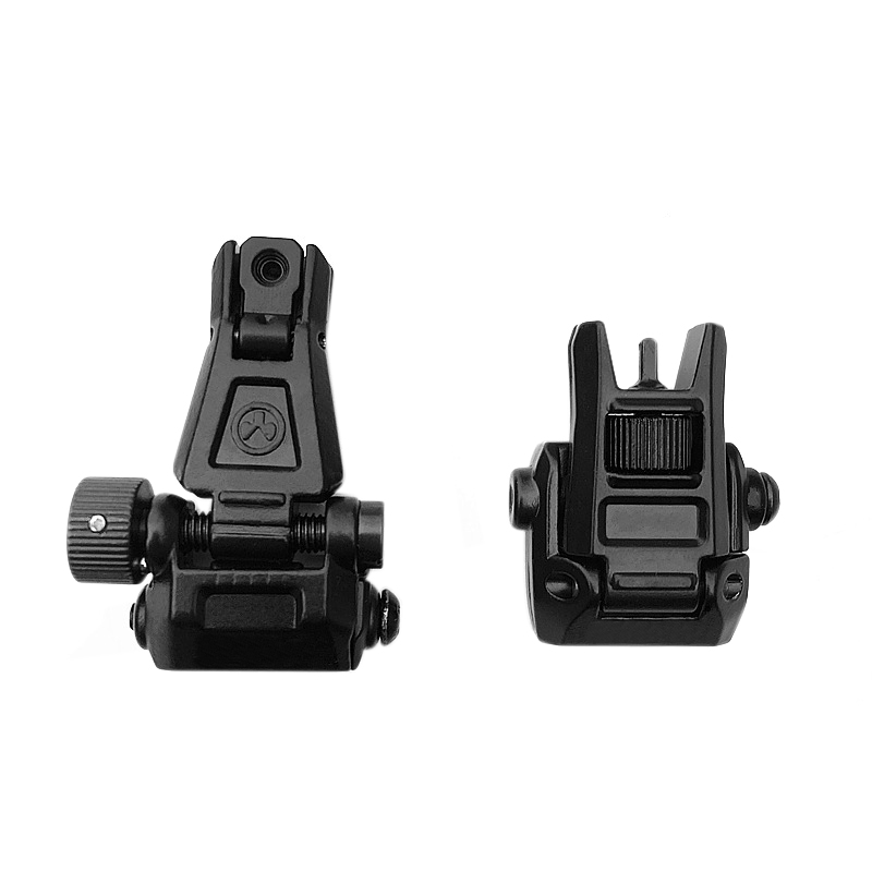 Image 5 - Rear Sight Tactical Flip Up Rapid Transition BackUp Front & Rear Sight Set for 20mm Picatinny RIS /RAS Rail Hunting Scope MountRiflescopes   -