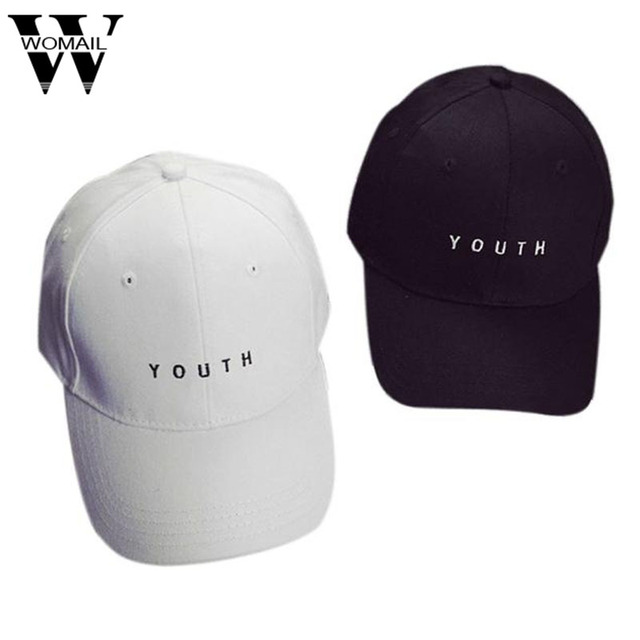 Men Cotton Baseball Cap WOMAIL Delicate Hot! youth letter Embroidery Boys Girls Snapback Hip Hop Flat Hat W15