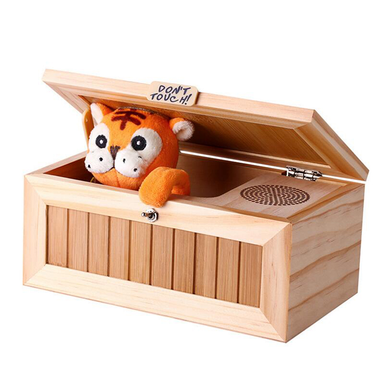 Мини Электронная антистрессовая игрушка бесполезная коробка с забавным тигром хитрая игрушка сюрприз шутка антистресс бесполезная коробк...
