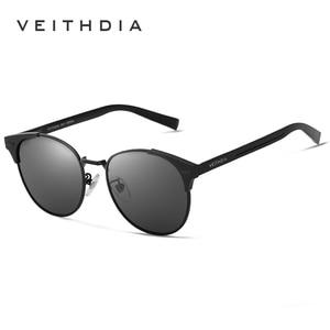 Image 3 - Солнцезащитные очки унисекс VEITHDIA, брендовые винтажные алюминиевые очки с поляризационными стеклами, для мужчин и женщин, модель 6109,
