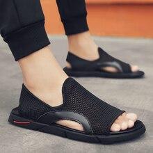 Mode Mann Strand Mesh Sandalen 2019 Sommer Outdoor Schuhe Männer Anti schleudern Atmungs Casual Schuhe Krasovki Tenis Hausschuhe Heißer