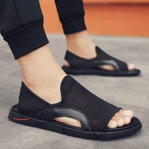 Image 1 - Thời Trang Người Đi Biển Lưới Giày Sandal Mùa Hè 2019 Ngoài Trời Cho Nam Chống Trượt Giày Thường Thoáng Khí Krasovki Tenis Dép Nóng