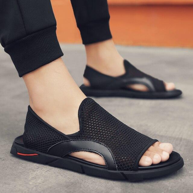 Thời Trang Người Đi Biển Lưới Giày Sandal Mùa Hè 2019 Ngoài Trời Cho Nam Chống Trượt Giày Thường Thoáng Khí Krasovki Tenis Dép Nóng