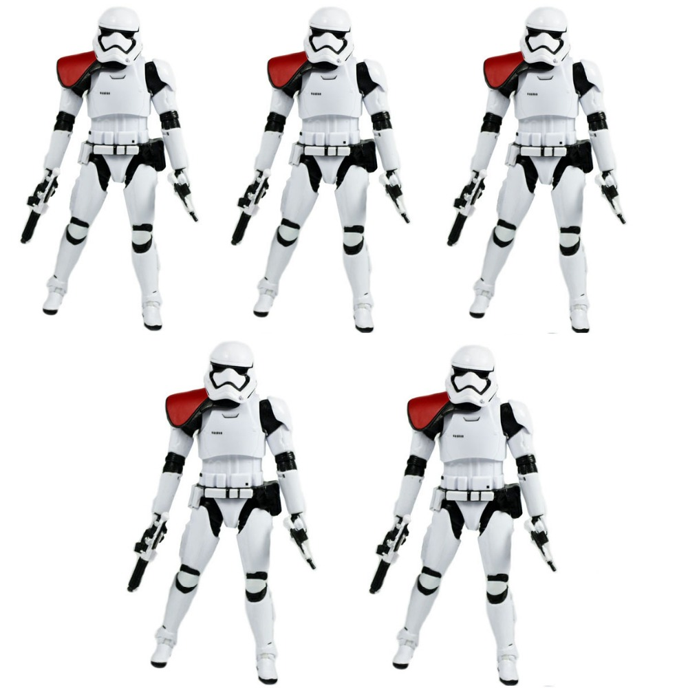 5Pcs Movie The Force Awakens First Order Stormtrooper Officer EE EXCLUSIVE Free Shipping