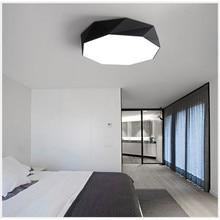 Minimalismo moderno LLEVÓ Las Luces de Techo Lámpara de Interior LLEVÓ la luz de Techo redonda personalidad creativa estudio comedor balcón lámpara