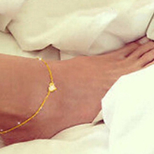 2016 New Women's Sexy Adjustable Sweet Love Heart Pendant Anklet Foot Chain Bracelet
