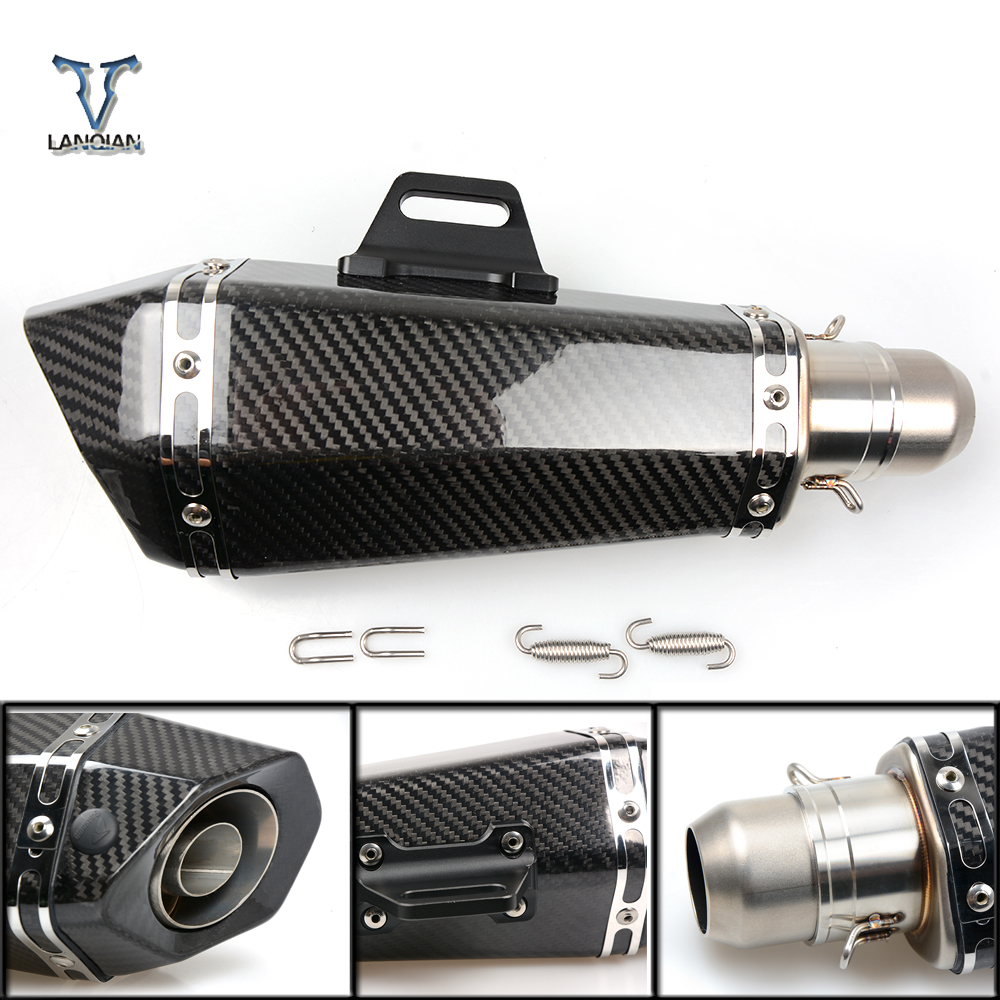 36 51mm Universal CNC Motorcycle Exhaust Pipe With Muffler for BMW k1600gt k1600gtl r1200r k1300s k1300r