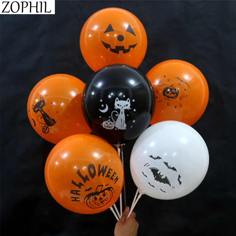12inch 6pcs Halloween Decoration Balloons Halloween Party Accessories Prop 2019 Hallowen Decorations DIY Horror Home Decor