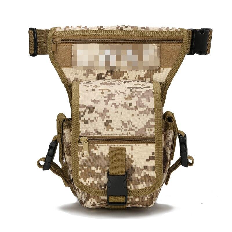Poche militaire tactique extérieure imperméable de sac de taille de paquet de jambe pour le Camping randonnée voyage chasse Molle sac Edc