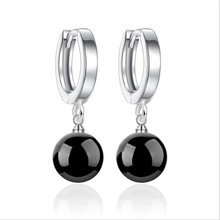 TJP New Fashion Silver 925 Women Drop Earrings Accessories Top Quality Red Crystal Ball Female Earrings For Girl Lady Christmas