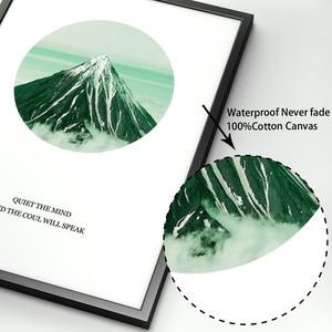 Image 4 - Monstera Palm Blätter Berg Landschaft Wand Kunst Leinwand Malerei Nordic Poster Und Drucke Wand Bilder Für Wohnzimmer Decor