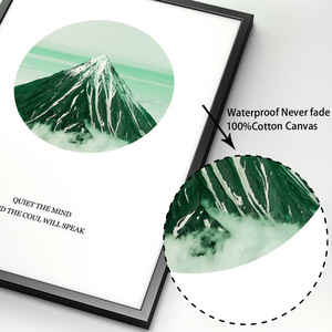 Image 4 - Monstera Palm Leaves Mountain Landscape Wall Art Canvas Painting Nordic Posters And Prints Wall Pictures For Living Room Decor